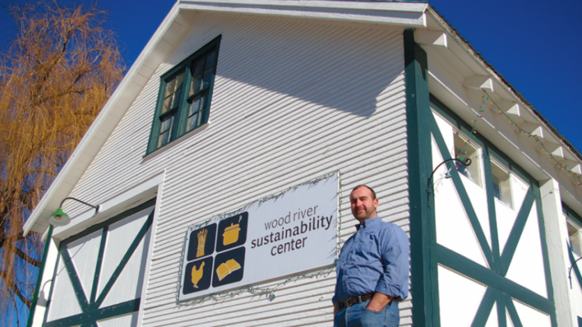 Al McCord at the Wood River Sustainability Center