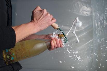 Popping a bottle open