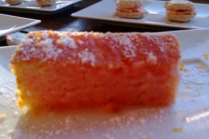 Grapefruit infused poundcake