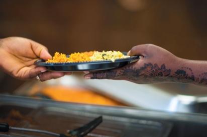 "Sharing dishes at ""The Arab World in Idaho: Food, Innovation & Culture"" gala"