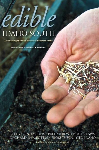 Edible Idaho Winter 2012 magazine cover