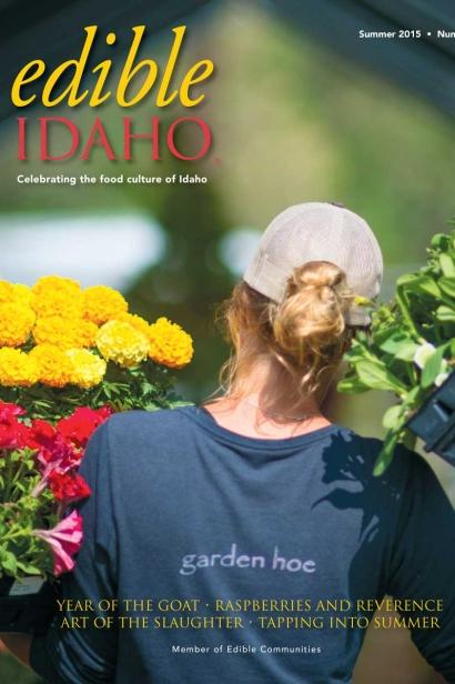 Edible Idaho Summer 2015 magazine cover