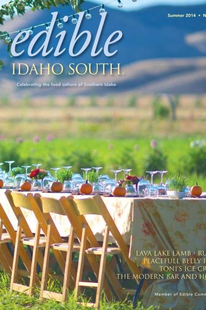 Edible Idaho Summer 2014 magazine cover