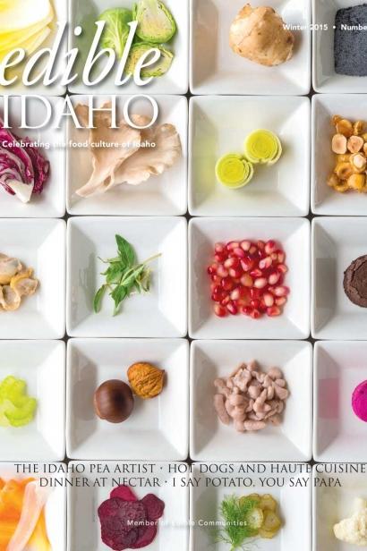 Edible Idaho Winter 2015 magazine cover
