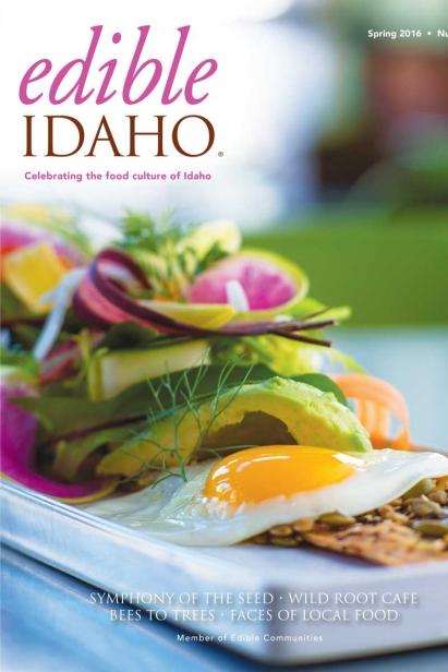 Edible Idaho Spring 2016 magazine cover