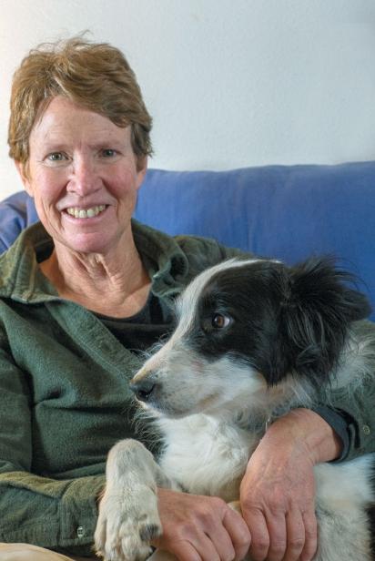 Janie Burns and dog