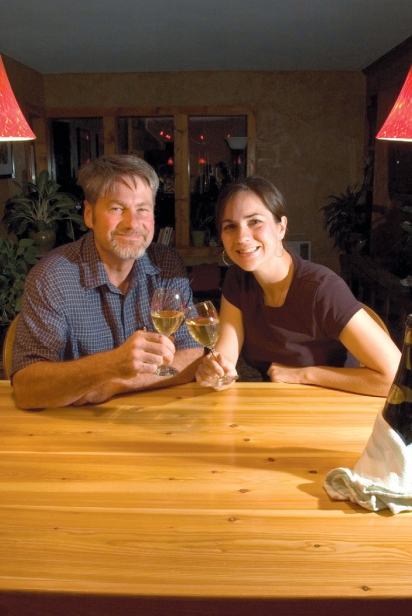 Mike Pearson and Melissa Sanborn of Colter's Creek Vineyard and Winery