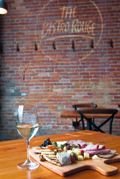 Charcuterie and wine at Pend d'Oreille