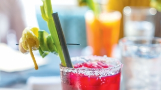 Cocktails with peppers